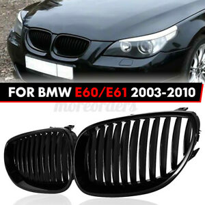 For BMW E60 E61 5 Series M5 2003-2009 Front Kidney Grille Grille Gloss Black UK