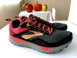 Brooks Cascadia 14 Trail Running Shoes Black/Coral Women's Size 9.5