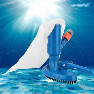 Vacuum Head Brush Cleaner Swimming Pool Spa Fountain Hot Tub Cleaning Tool Kit