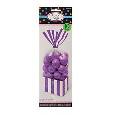 20 Striped Stripes Candy Buffet Sweet Treat Loot Party Supplies Favor Bags