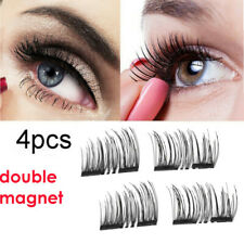 Makeup 4 Pcs Natural Thick Eye Lashes 3D Magnetic False Eyelashes BS