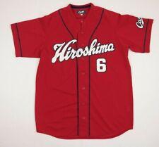 Rare Hiroshima 6 Carp Soyogi Original Baseball Jersey Shirt Red Size Large