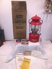 Coleman 200A High Vent Gas Lantern Dated 4/55 April 1955 + Box/Extras - Restored