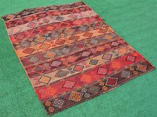 Turkish Kilim Rug 47''x62'' Oriental Vintage Rug Kars Cicim Kilim Wool 120x160cm