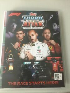 TOPPS F1 TURBO ATTAX COMPLETE 181 CARD SET + 3 LTD CARDS  +  ALBUM 2020