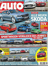 Auto Zeitung  Heft  16 / 2013  17.7.2013 Skoda Exklusiv Tesla S F-Type, SL 500
