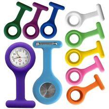 Enfermera Con Clip De Bolsillo Broche Colgante Silicona Reloj Cuarzo Nuevo