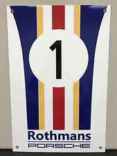Le mans Lemans 24h Rothmans Team  racing metal garage sign