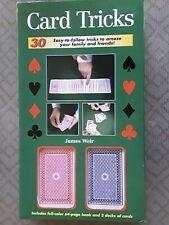 Card Tricks- 30 Easy Card Tricks Book By James Weir & 2 decks Brand New! A17