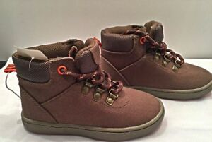 New Genuine Kids Osh Kosh Toddler Boots Shoes Sz 9 Olive Brown