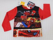 Marvel Superman Shirt à Manches Longues Rouge Taille 104 cm 3/4 Ans Neuf A