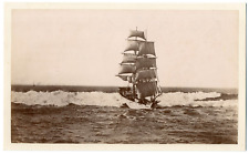 Angleterre, navire, voilier, deux mats  Vintage albumen print Tirage album