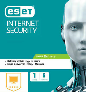 ESET NOD32 Internet Security 2020, 6 MONTHS /180 DAYS -1 PC (Read description)
