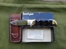 1977 Vintage Kershaw Mint Folding Knife with Original Box, Manual and Sheath