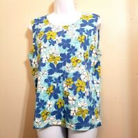 Christopher Banks Womens Floral Tank Top Size L