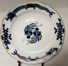 "Meissen Court Dragon 8 1/4"" Plate. Gorgeous Cobalt & Gold. Rare!"