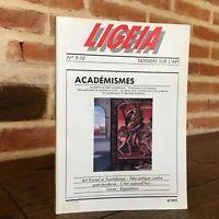 Revista Ligeia Carpeta En Arte N º 9 - 10 Académismes Octubre Noviembre 1991