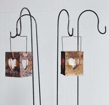 4 x Halter f. Hochzeitsdeko Herz  Herzen Windlicht Teelichtgläser
