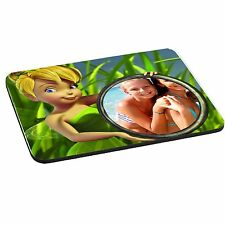 Disney Tinkerbell Personalised Photo Mouse Mat, Pad 220mm x 180mm, 5mm Thick