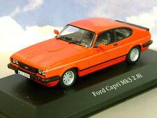 ATLAS EDITIONS 1/43 DIECAST 1981/1982 FORD CAPRI MK3 MKIII 2.8i RED (RHD/UK CAR)