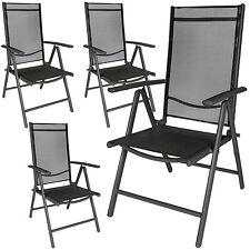 4 Aluminio Sillas de jardín plegable alu sillón balcón terraza antracita