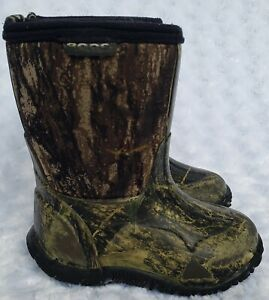 Bogs Classic Mid Insulated Waterproof Boots-Mossy Oak Camo (Toddler Size 7)