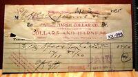 1935 MARSH COLLAR CO Collars & Harness Billhead Bill Head
