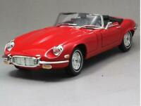 1/18 1971 Jaguar E-TYPE Roadster Road Signature Diecast Model Car Toys Red