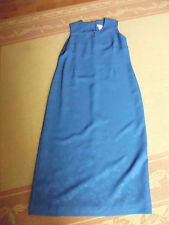 LADIES BLUE LINED POLYESTER SLEEVELESS DRESS BY LIZ JORDAN - SIZE 14 -CHEAP