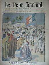 ALGERIE DJEMAA DE CHARROUIN AMAN COLONIALE CIRQUE ACCIDENT LE PETIT JOURNAL 1901