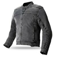 Bela chaqueta Ranger Vintage corta impermeable chaquetas de moto hombres gris