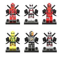 6pcs/Set Mini Deadpool Series Gwen Gwenpool Blocks Toys Children Halloween Gift