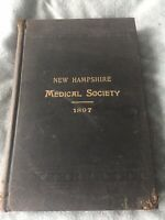 1897-New Hampshire Medical Society Publication-Hb-106 Anniversary In  Concord NH