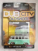 Jada Dub City Old Skool 62 1962 Volkswagen VW Bus Light Green Diecast 1/64 Scale