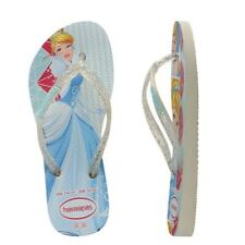 b687de408f8067 Havaianas Slim Kids Girl Princess Cinderella Rubber Flip Flops All Sizes
