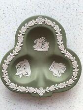 "Wedgwood 4.5"" Green Shamrock / Club shaped Dish"