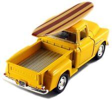 Kinsmart 1955 Chevy Stepside 3100 Pick Up Truck 1:32 diecast w/ Surfboard Yellow
