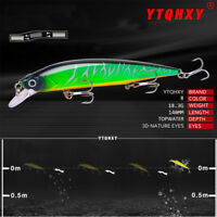 3D Eyes Crankbait Plastic Hard Crank Minnow Wobbler Bionic Bait Fishing Lure