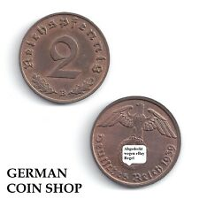 Extremely Fine - 2 Reichspfennig Copper 1937 1938 1939 1940 A B D E F G J
