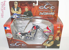 ST LOUIS CARDINALS STL Collectible DieCast OCC Chopper Motorcycle Bike Ertl Blue
