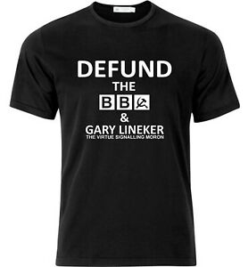 Defund The BBC Gary Lineker Edition Protest T Shirt Black