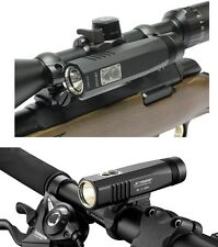 NEW JETBeam BR10-GT Bike & Gun Mounted Rechargeable LED Light 900 Lumens Scope