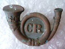 Badge- VICTORIAN Carlow Rifles Irish British Army Badge CR Badge (Scarce Org*)