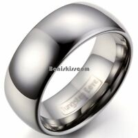 8mm Classic Comfort Fit Dome Men's Tungsten Carbide Ring Engagement Wedding Band