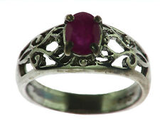Ruby Natural Genuine gemstone Sterling Silver Ring RSS823