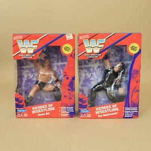 """Undertaker & Sid - 1997 WWF Playmates 9"""" Heroes Ring Figure - Vintage Wrestling"""