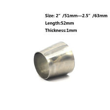 2'' 51mm to 2.5'' 63mm OD Stainless Steel Exhaust Pipe Adapter Reducer Connector
