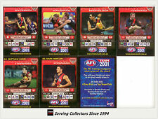 2001 Teamcoach Trading Cards Promotion Team Set Essendon (7 )