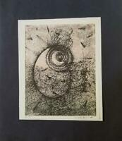 "Max Ernst ""Homage to Rimbaud "" Mounted offset Lithograph 8""x10"" 1973 PlateSigned"
