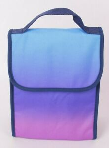 Pottery Barn PB Teen Gear Up carryall lunch bag sack, ombre blue purple